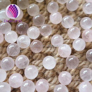 6 mm rose Quartz round Beads gemstone loose beads without hole