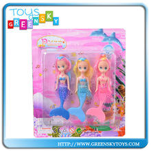 5 inch vinyl mermaid dolls mini baby doll