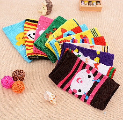 12 Styles Baby Leg Warmers newborn Boys and girls Kneepads Crawling cartoon Warm Leg Warmers 1Pari