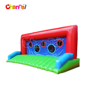 Customized inflatable soccer shooting Inflatable Football Goal Speed Cage for Children