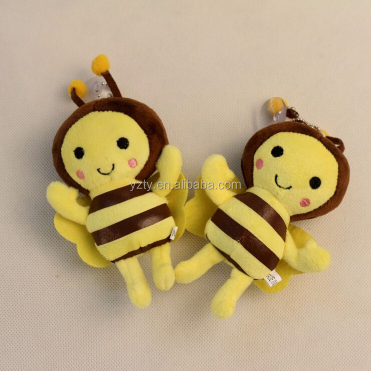 Wholesale stuffed animals from China soft yellow plush bee toy