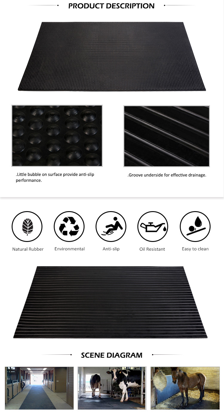Competitive price anti-slip cow rubber mat