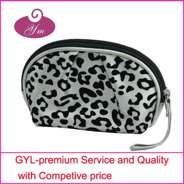 2013 popular high quality cosmetic bag zipper pouch leopard print
