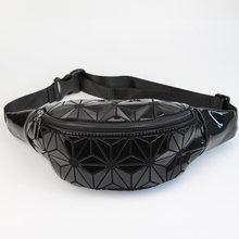 Модные поясные сумки, женские поясные сумки, черная поясная сумка, роскошная брендовая нагрудная сумка из искусственной кожи, геометрическ...(Китай)