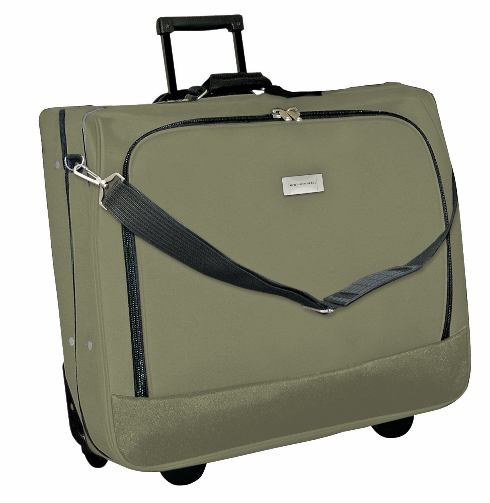 Get Quotations Geoffrey Beene Deluxe Rolling Garment Bag Travel Carrier With Wheels Olive Green