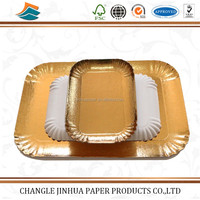 Golden Paper Plate&tray Round Shape