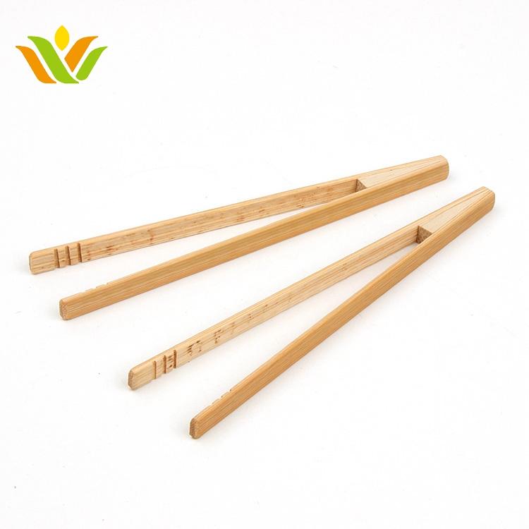 Toastzange Bambus Magnetverschluss Zangen