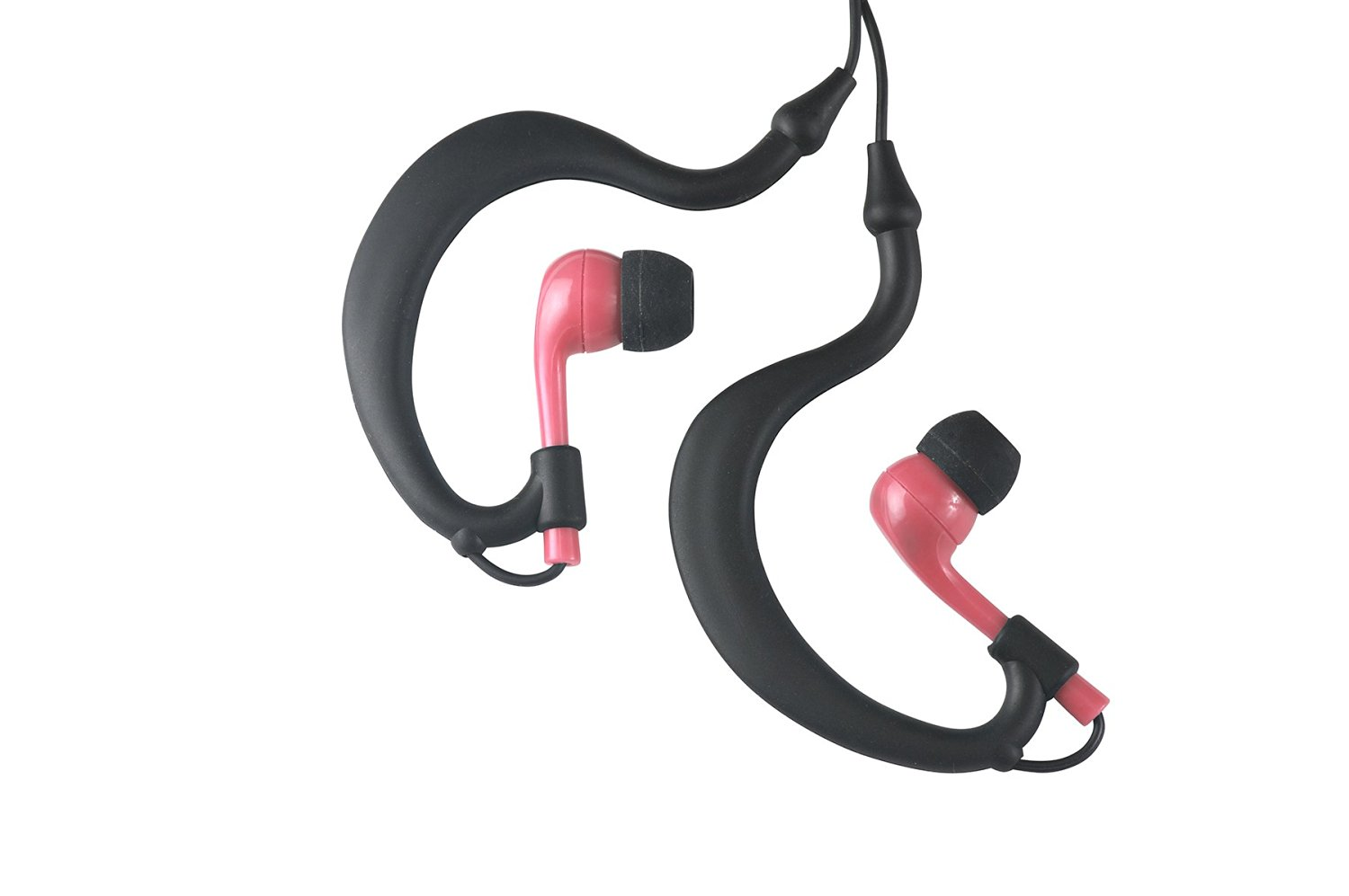Uwater Triple-Axis 100% Waterproof Action Stereo Earphones-Black/Pink
