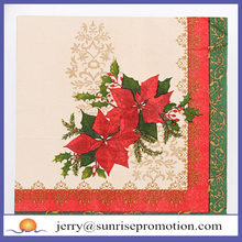 Disposable Bestselling 2Ply or 3Ply Christmas Napkins For Party