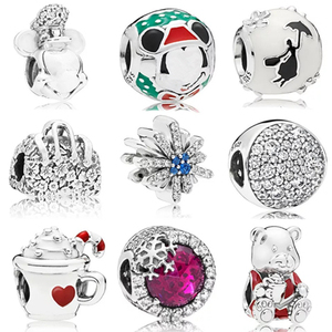 New wholesale bead bracelet fashion fit pandoras charms 925 sterling silver beads for jewelry making