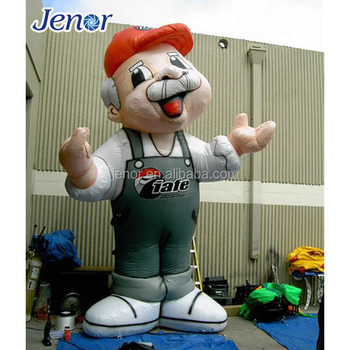 Inflatable Old Man Super Mario Cartoon Character for Promotion