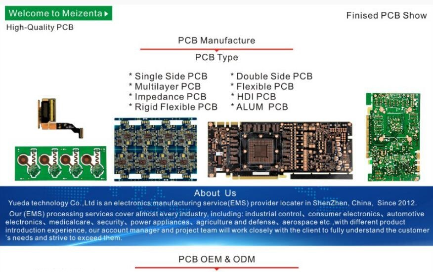 ShenZhen Yueda Technology PCB Design Service PCBA Manufacture Printed Circuit Boards