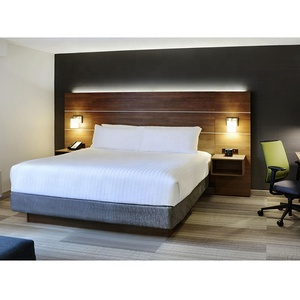 Holiday Inn Hotel Adjustable Bed Headboard With Integrated Nightstands