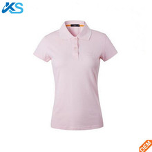 Women's OEM service blank slim fit women's pink sports uniform pique polo shirts