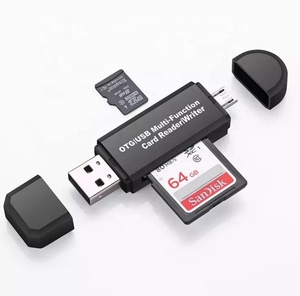 Cheap magnetic card OTG reader USB 2.0 multi-function card reader/writter for Mobile and PC