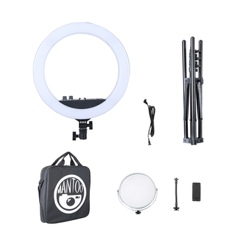 "18"" LED Ring Light Dimmable 3200-5600K Photography LED Selfie Ring Light Youtube Video Live Photo Studio Light With Tripod"