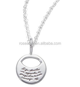 Life shrinks or expands in proportion to one's courage. quotes jewelry 17 year newest necklace for ladies