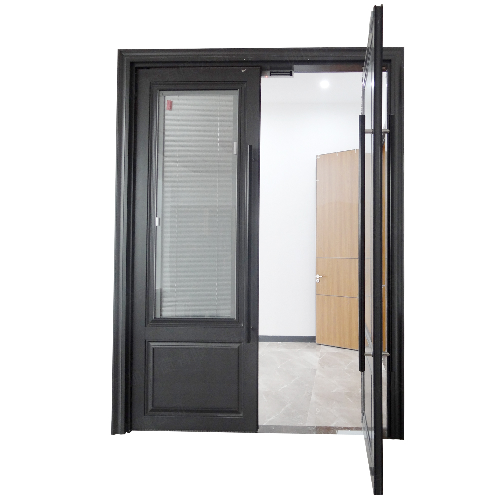 Cheap price aluminium glass double entry doors