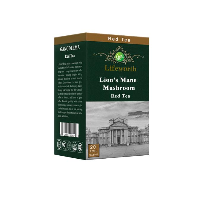 Lifeworth instant red tea powder with lion's mane mushroom extract - 4uTea | 4uTea.com