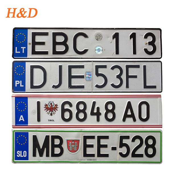 H&d Uk Car License Plate Motorcycle Number Plate Design Iso9001 European  Reflective Film Car Plates - Buy License Plate,Number Plate,Reflective Film