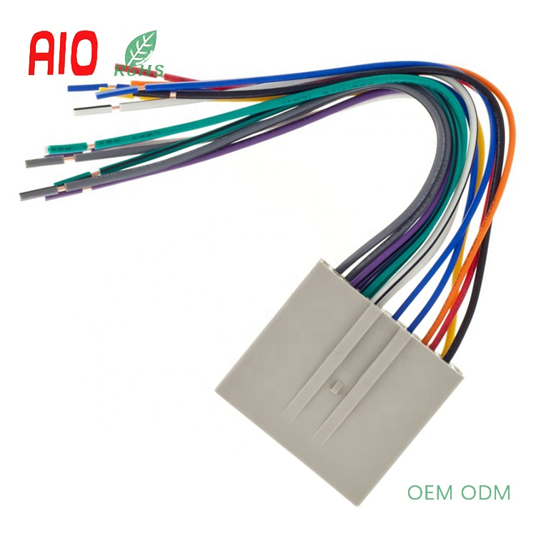 Car Aux Cd Stereo Adapter Connector Receiver Wire Automotive Wiring Harness For 2003