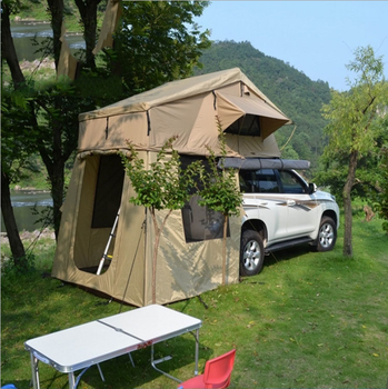 Manufacture Price Waterproof Camping Car Roof Top Tent With Awning For Cars