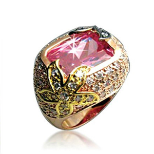 Brilliant gold engraved ruby ring gemstone jewelry