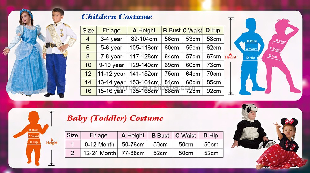Heart princess costume (02-0203) for fairy costume party with ARTPRO brand