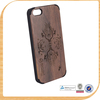 100% real wood phone case, phone accessories mobile wholesale, laser engraving cell phone case for 5s