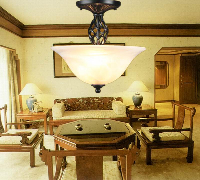 nordic iron lighting semi flush lighting ikea living room