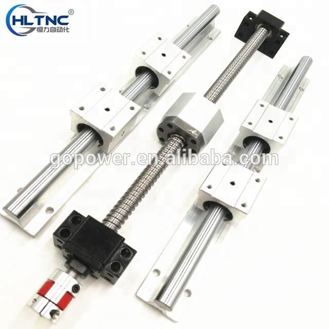 6 sets linear rail SBR16-300/1200/1200mm+SFU1605-300/1200/1200mm ball screw set +nema 23 stepper motor 1.5KW SPINDLE MOTOR