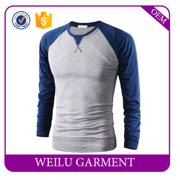 New Design Free Sample Cheap Two-color Long Sleeve T-shirt With ...