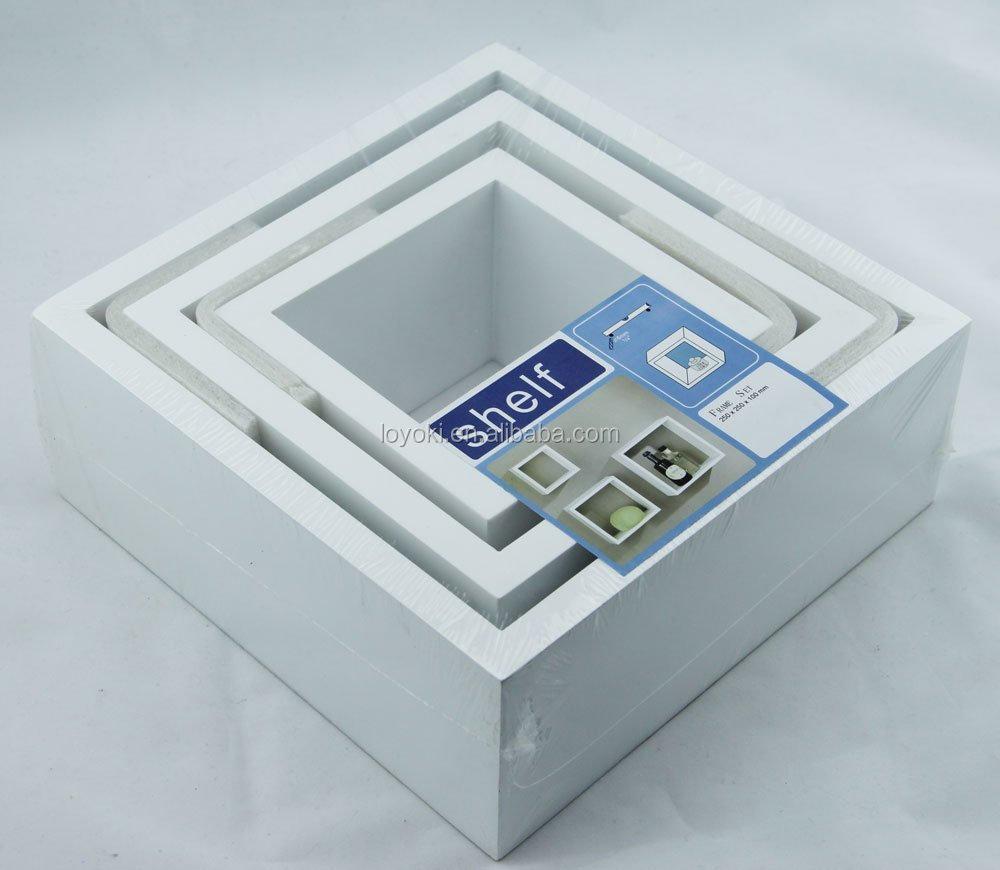 2015 nieuwe stijl moderne thuis 3 stuks wit vierkante cube ...