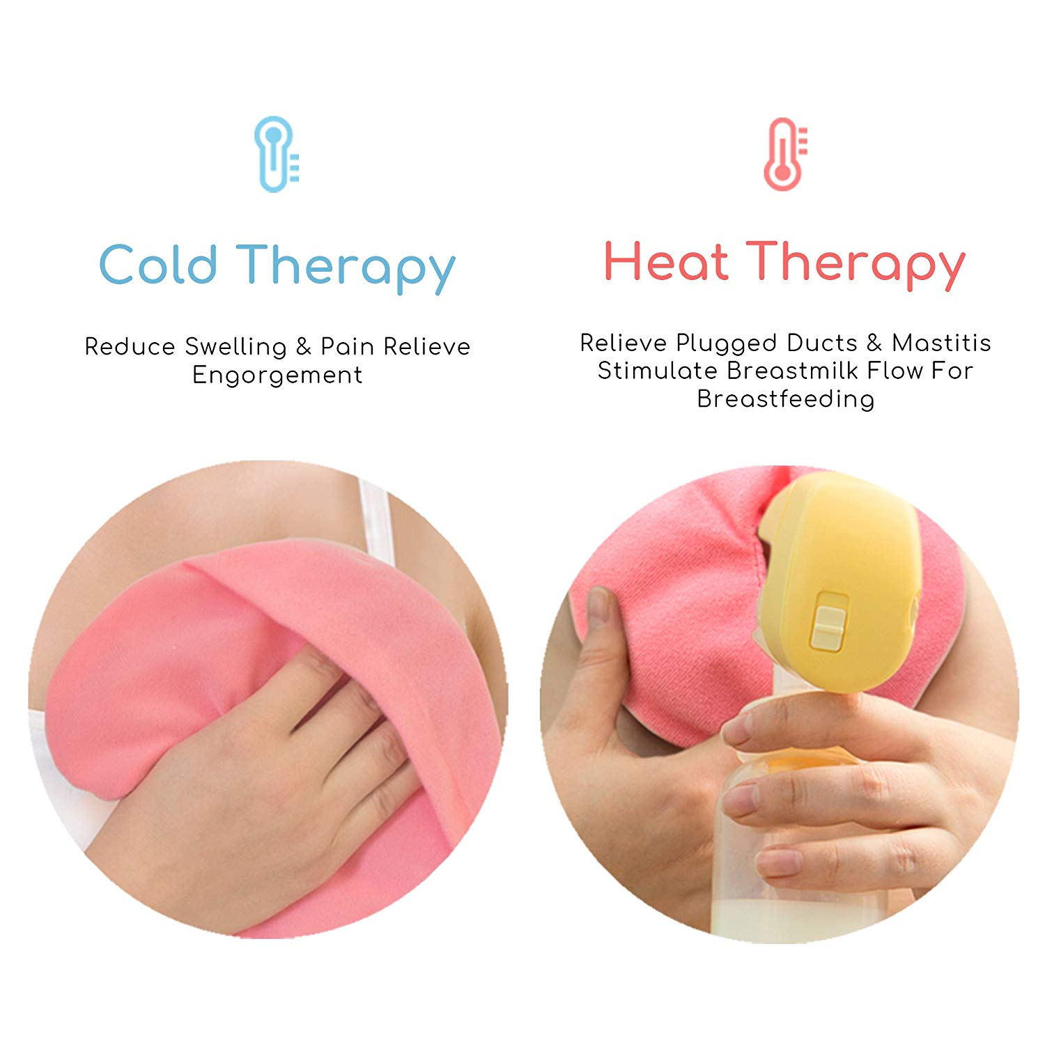 Waterproof heating pad breast pump hot and cold gel pack