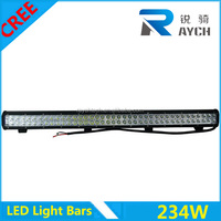 36INCH 234W led car lights CREEs LED WORK LIGHT BAR DRIVING LAMP OFF-ROAD 4WD SUV BOAT JEEP