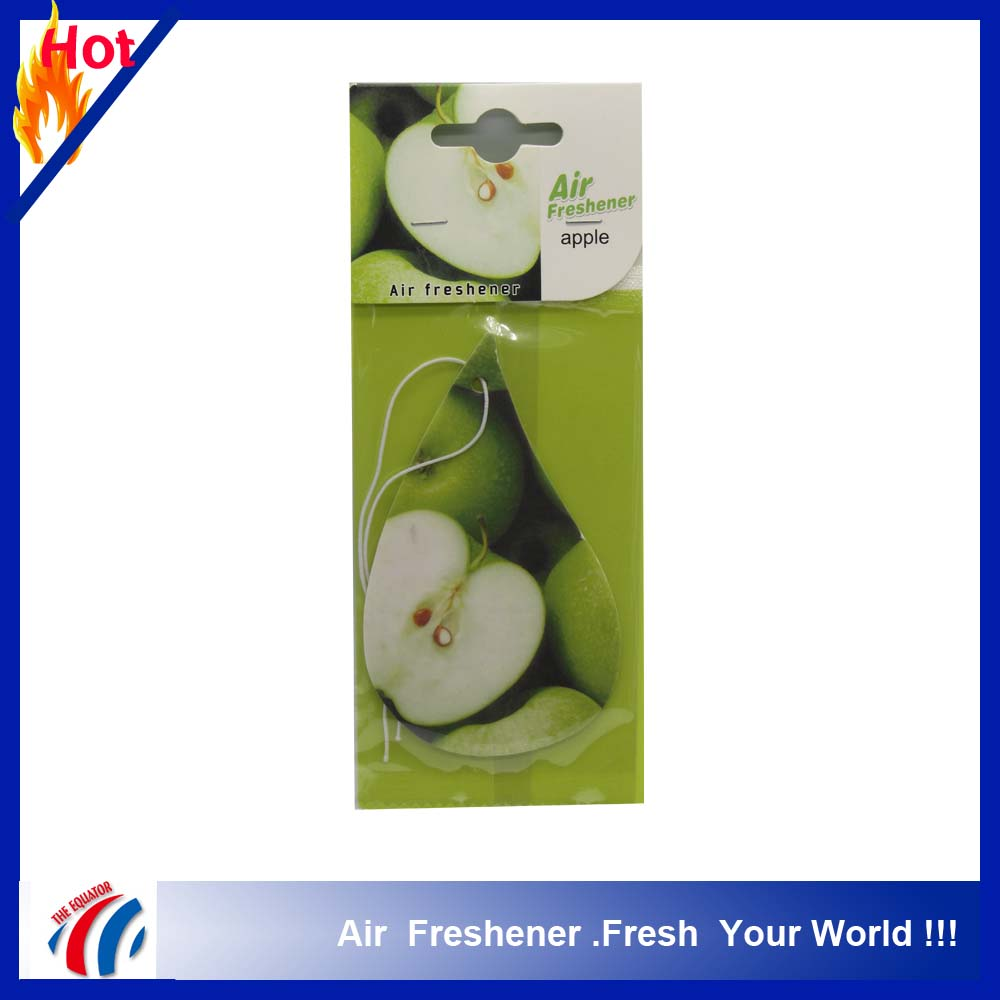 Custom made Hanging Car Paper Air Freshener/custom logo print air freshener paper type