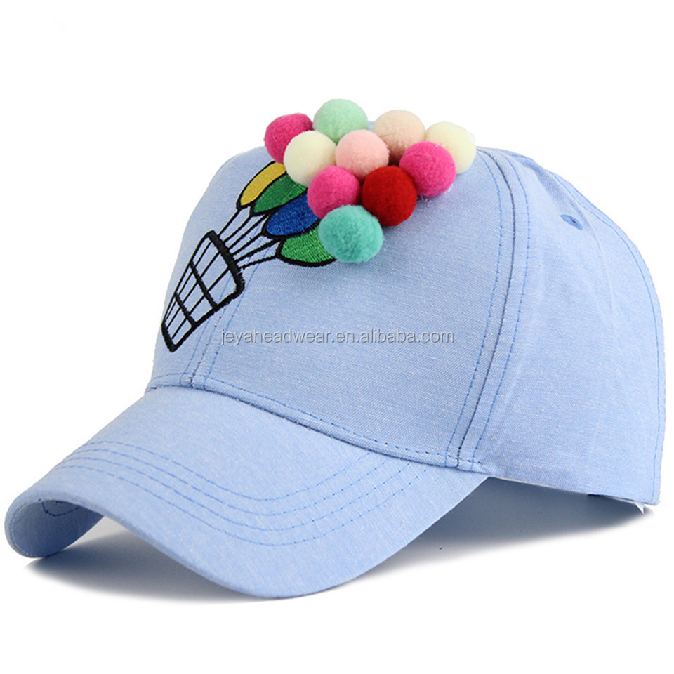 Lovely Hot Air Balloon Snapback Baseball Cap Girl Casual Snapback Cap Summer Sun Hat for Youth Snapback Caps