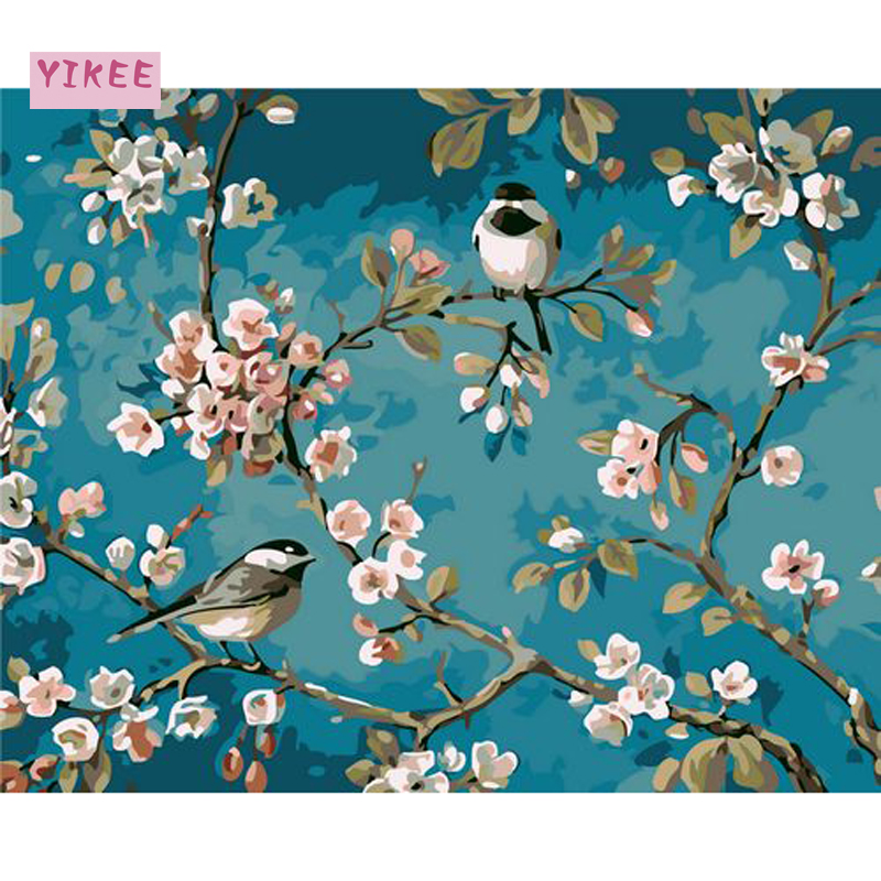 GX963 Flower and bird diy paint by numbers diy paint by nufmbers chinese painting