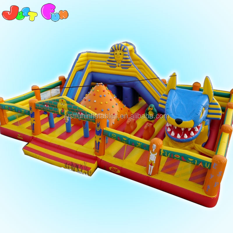 Ancient Egypt theme hot sale play center inflatable slide fun city park