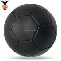 custom football official size 5 whole black soccer ball
