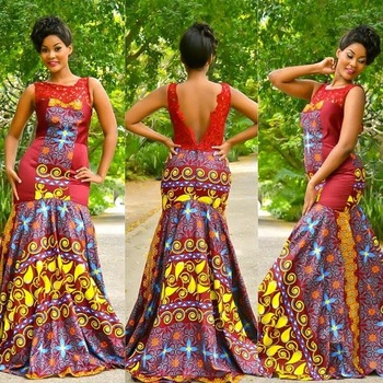 Factory Price Fashion African Print Style Long Dress Patterns Inspiration African Dress Patterns
