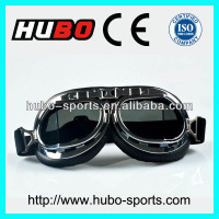 black silver ABS frame PU leather best cheap glasses motorcycle riding