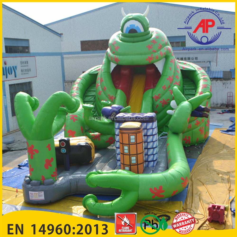 Airpark Mr.Q Cartoon Giant Inflatable Monster Slides, Inflatable Water Slides