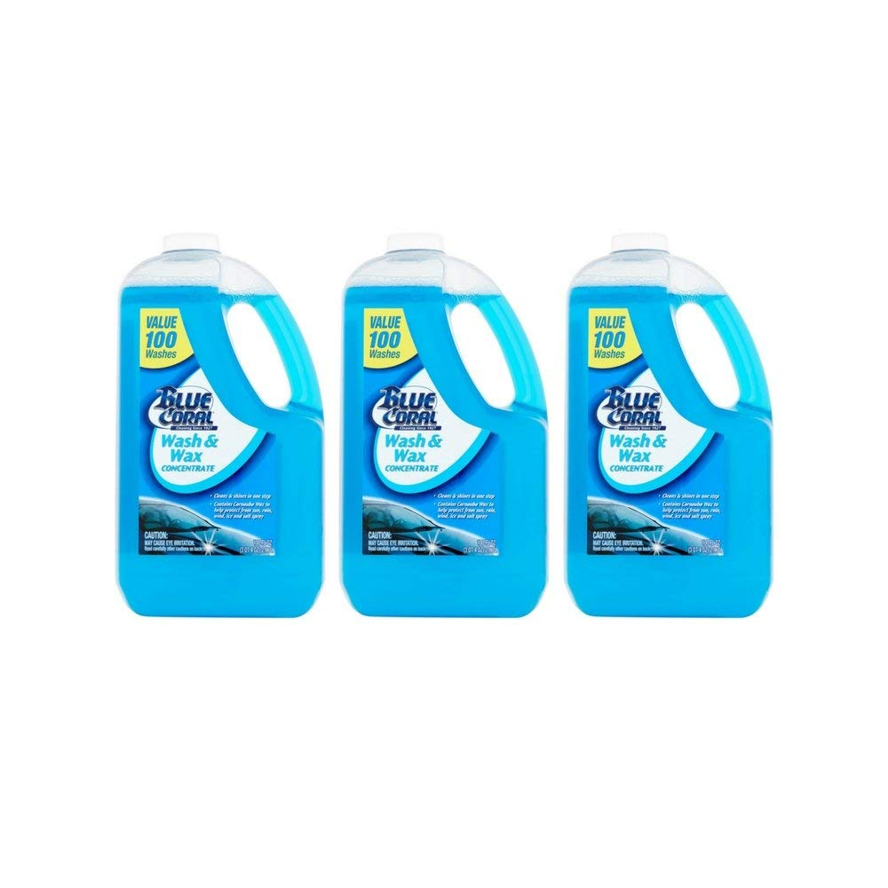 Blue Coral Wash & Wax Concentrate, 100 washes, 100 fl oz (3 pack)