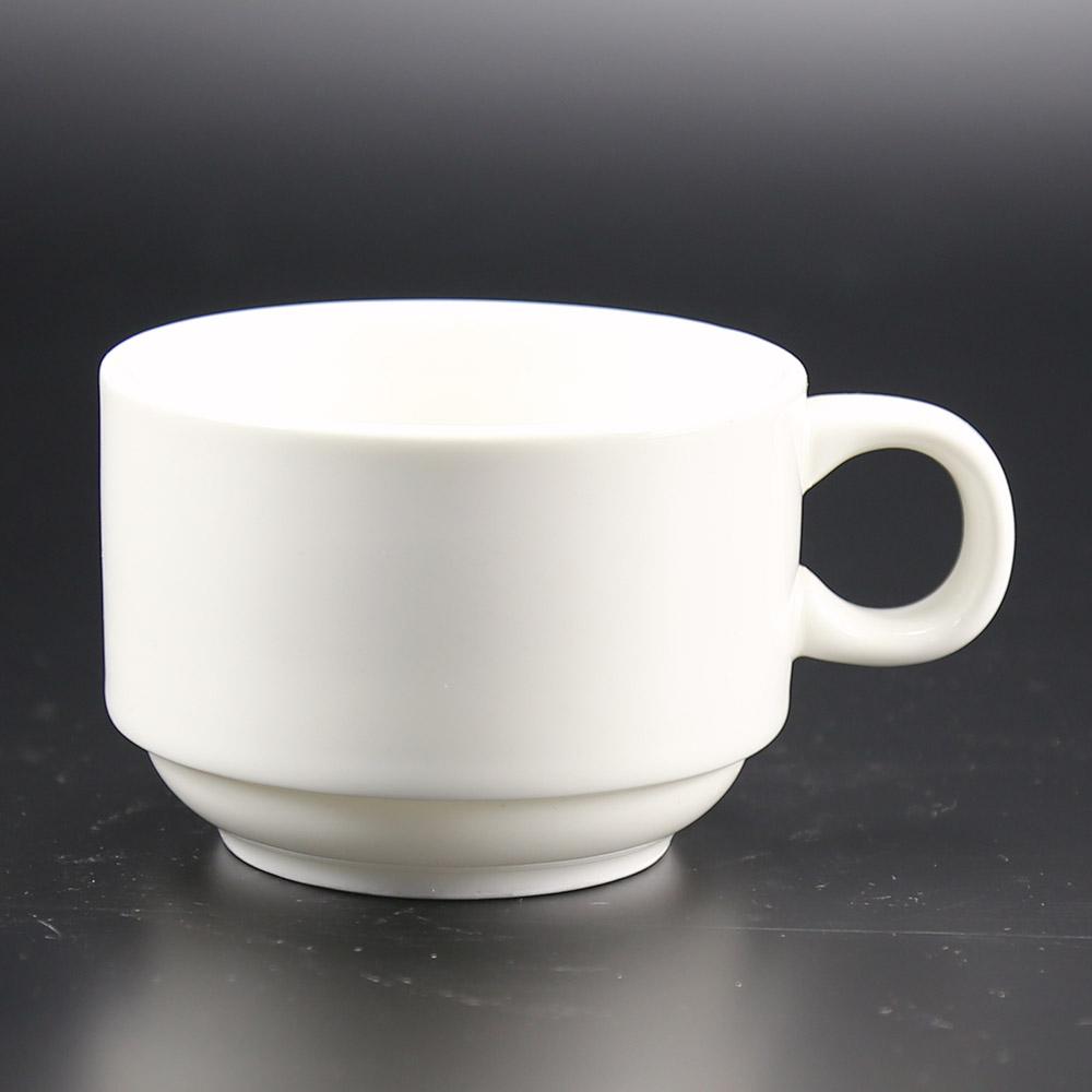 Plain White Color 5oz Tin Porcelain