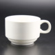 Plain White Color 5oz Tin Porcelain Coffee Mugs Cups By Porcelain Material