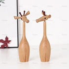 Nordic wooden animal giraffe crafts and arts and handcrafted wood products Can be 360 Degrees Activity for home decor