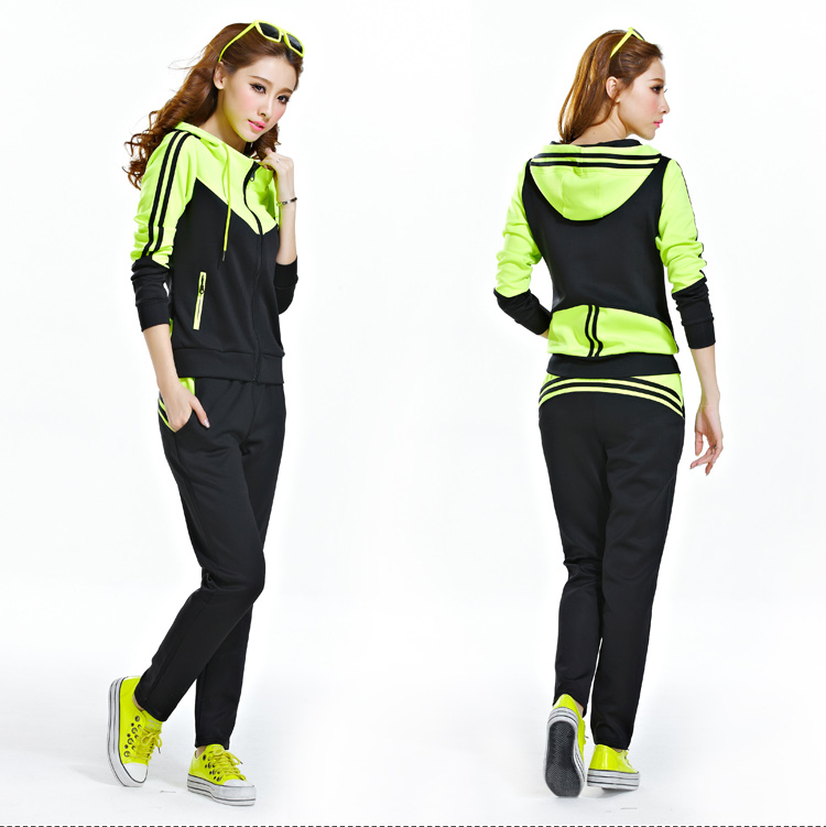 New Fashion Women's Hooded Tracksuits Ladies Leisure ...