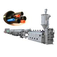 Plastic HDPE PPR Pipe Extrusion Production Line For Water & Dainage & Gas Pipe