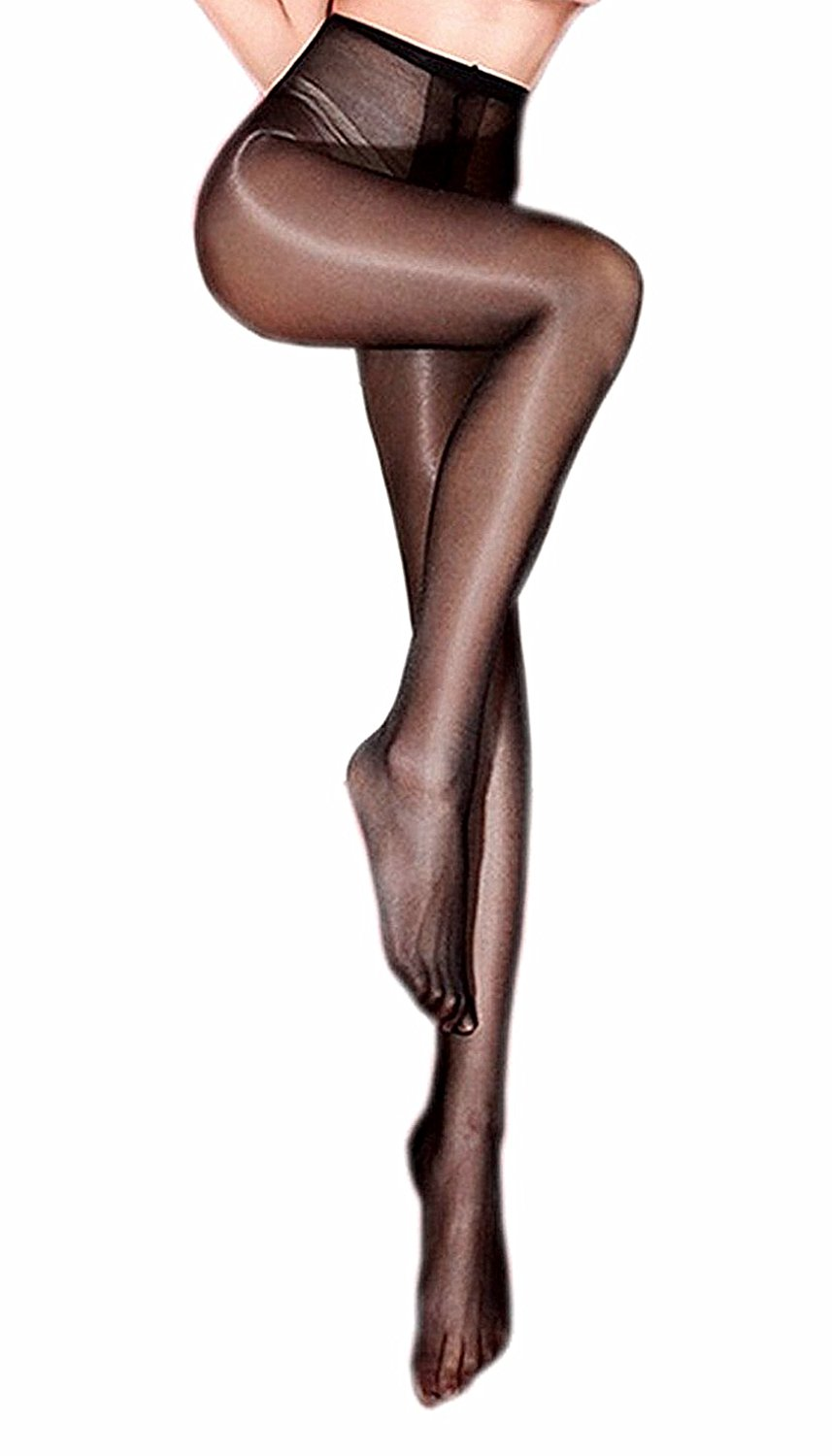 babbf06d69e24 Get Quotations · Kffyeye Sheer Pantyhose High Waist Open Crotch Tights  Shiny Silk Stockings, Ultra Shimmery Plus Footed